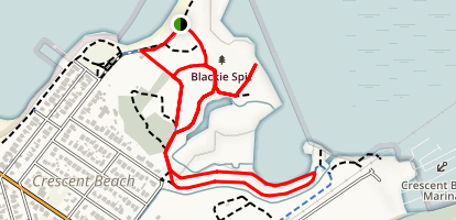 Blackie Spit Loop Map