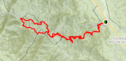 Mount Thomas Via Rmaona Trail Map