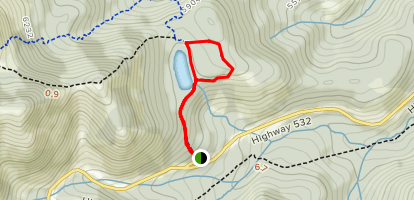 Bear Pond Ridge Route Via Iron Creek Mountain Trail Map