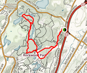 Blueberry Hill and Zoo Trail to Owen's Lake Map