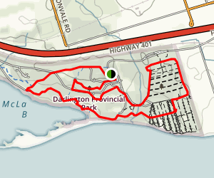 Darlington Provincial Park Loop Trail Map