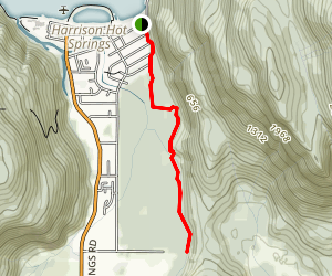 Bear Mountain Flats via Bridal Trail Map