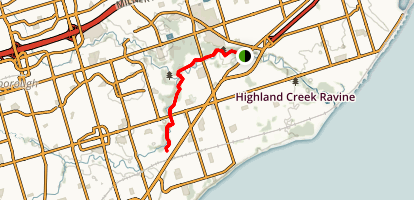 Morningside Park Trail along Highland Creek Map