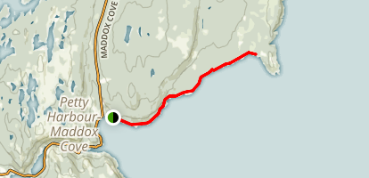 Cape Spear Path: Maddox Cove to Herring Cove Map