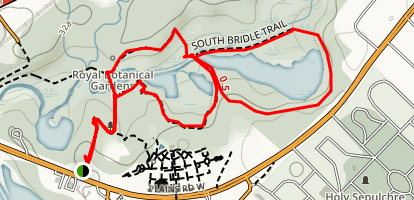 North and South Bridle Loop Trail Map