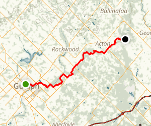 Guelph Radial Line Trail: Guelph to Limestone Map