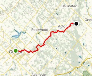 Guelph Radial Line Trail: Guelph to Limehouse Map
