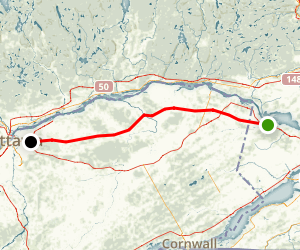 Prescott and Russell Recreational Trail Map