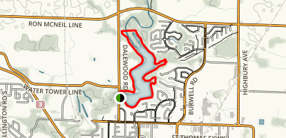 Dalewood Reservoir Trail Map