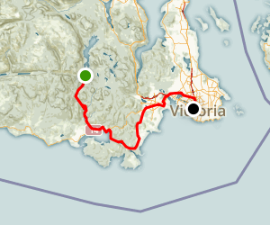 Galloping Goose Regional Trail: Sooke to Victoria Map