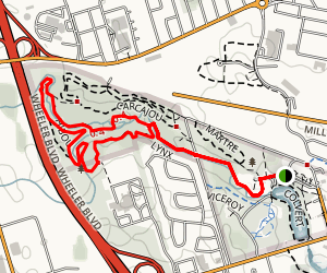 Centennial Park Loop  Map