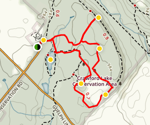 Snowshoe Trail at Crawford Lake Map