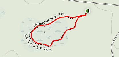 Shorepine Bog Trail Map