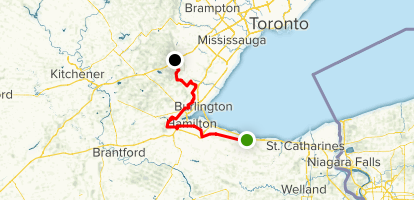 Bruce Trail: Iroquoia Section Map