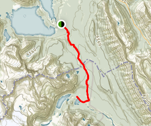 Elk Pass Trail to Lower Elk Lake Trail Map