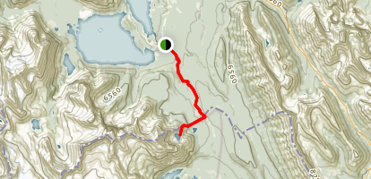 Elk Pass Trail to Frozen Lake Trail Map