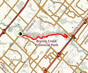 Bronte Creek Trillium Trail  Map