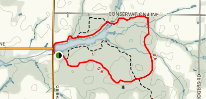 Bradley's Creek and Springwater Pond Trail Map