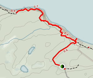 Cave Point Trail Map