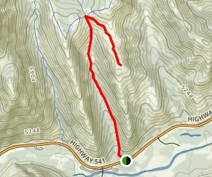 Fir Creek Point via Grass Pass Trail Map