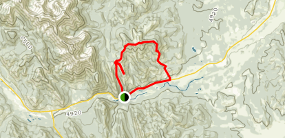 Grass Pass & Bull Creek Hills Trail Map