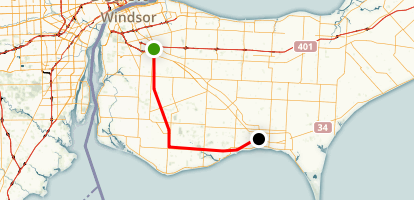 Chrysler Canada Greenway Map