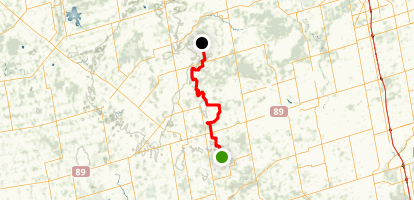 Bruce Trail: Dufferin Hi-Land Section Map