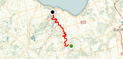 Bruce Trail: Blue Mountains Section Map