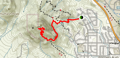 Bishop Peak Trail Map
