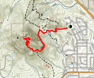Bishop Peak Trail from Highland Drive Map