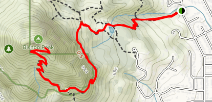 Bishop Peak Trail from Patricia Drive Map