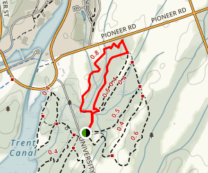 Trent University Wildlife Sanctuary Nature Area - Red Trail Map