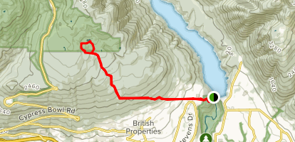 Baden Powell Trail to West Lake Map