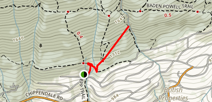 Incline Rail Trail to Brothers Creek Trail Map