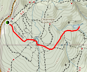 Hollyburn, Jack Pratt and West lake Trail Map