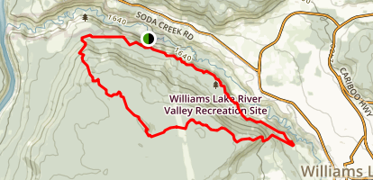 Williams Lake River Valley Recreation Site Loop Trail Map