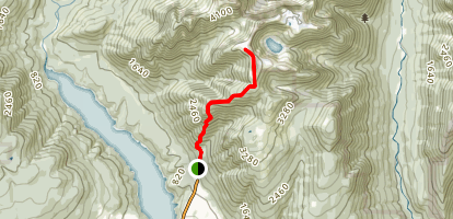 Beck Trail to Dan Mountain and Little Goat Mountain Map