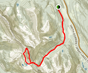 Mount Smuts Via Mount Smutwood Route Map