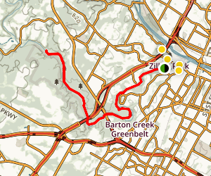 Barton Creek Greenbelt Trail Map