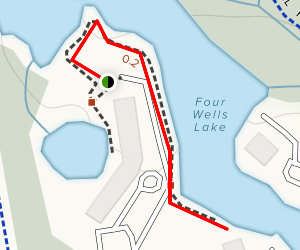 Four Wells Lake Trail Map