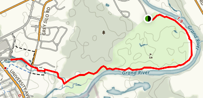 Walter Bean Grand River Trail Map