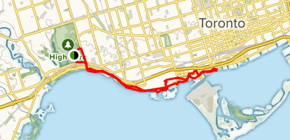 Western Ravines & Beaches Trail Map