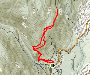 Old Binty's and Rainbow-Sproatt-Flank Trail Map