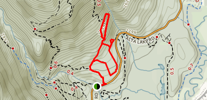 Bob's ReBob Upper and Lower Loop Trail Map