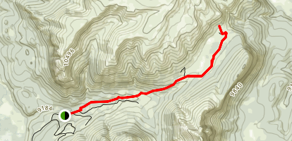 Bonneville Pass Via Du Noir Trail Map