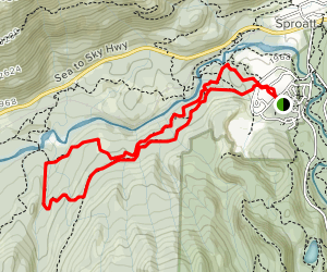 Jane Lake and Sky to Sea Loop Trail Map