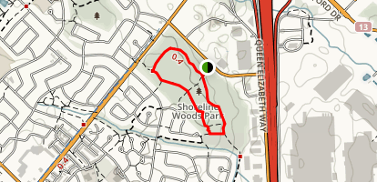 Shoreline Woods Loop Trail Map