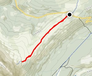 Cadomine Divide Trail Map
