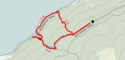 Bohaker Trail to Delap's Cove Map