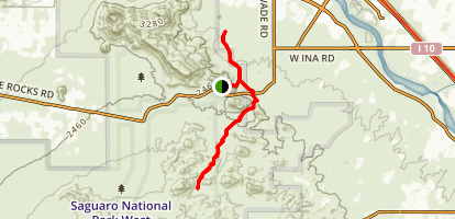 Picture Rocks Wash Trail Map